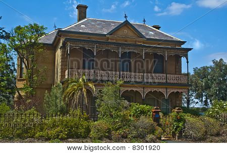Victorian Mansion and Garden in Country Victoria