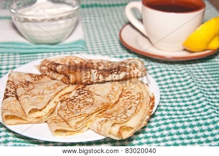 Pancakes And A Cup Of Tea