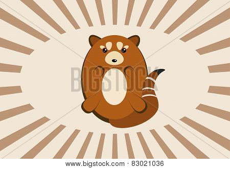 Cute vintage red panda