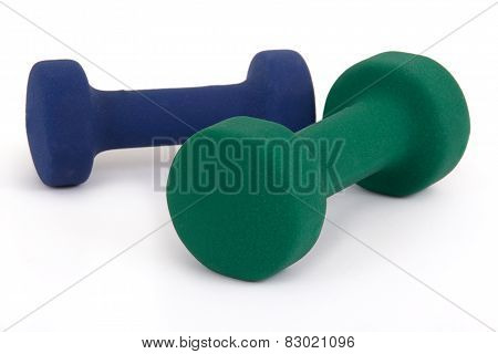 light weight dumbell isolated