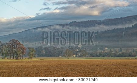 Countryside In Evian-les-bains In France In Winter