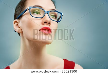 beauty woman wearing glasses