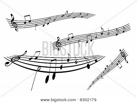 Illustration of a stave on white background