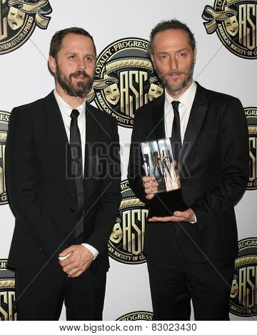 LOS ANGELES - FEB 15:  Giovanni Ribisi, Emmanuel Lubezki at the 2015 American Society of Cinematographers Awards at a Century Plaza Hotel on February 15, 2015 in Century City, CA