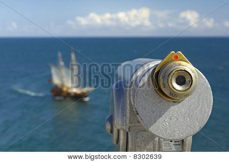 Binocular at seaside