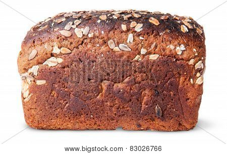 Unleavened Of Black Bread With Nuts Seeds And Dried Fruit