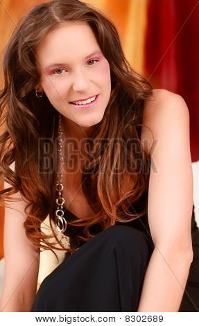 Smiling Woman Looking At Camera