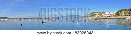 Panorama from the harbor and village Alvor in Portugal