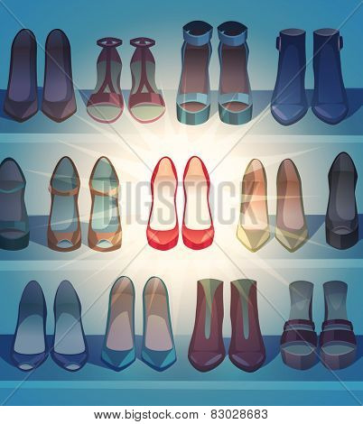 The best of the shoes. Vector illustration.