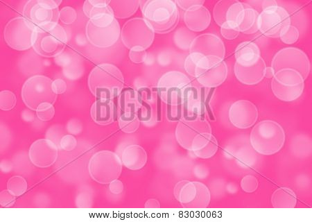 pink circle shape boke as background