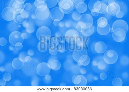 blue circle shape boke background