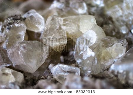 druse of calcite crystalls