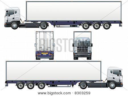 Vector cargo semi-truck