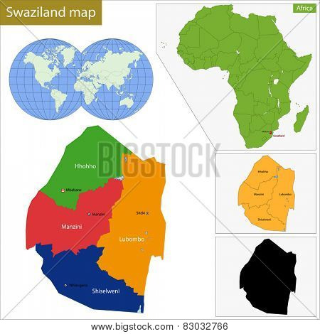 Administrative division of the Federal Kingdom of Swaziland