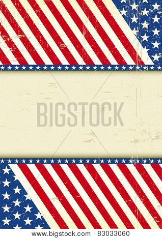 Dirty USA cool flag. A grunge poster of America for your message