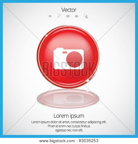 Digital photo camera. Icon