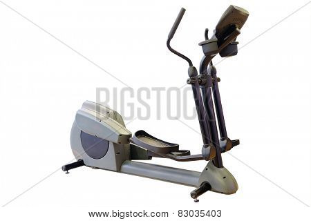 Elliptical cross trainer in a gym