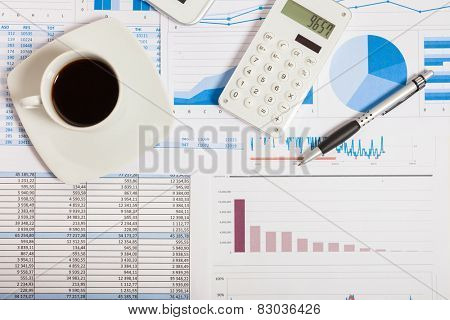 Financial data analysis concept