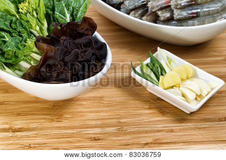 Fresh Ingredients For Cooking Asian Meal