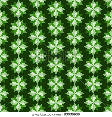Green Abstract Rhomboid Or Diamond Seamless Pattern
