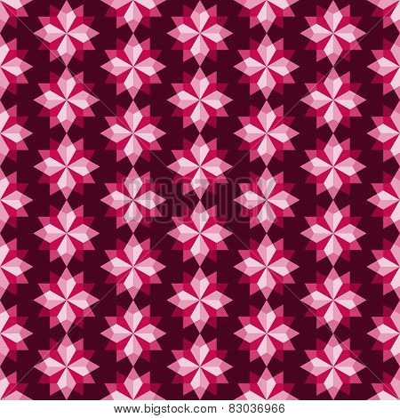 Red Abstract Rhomboid Or Diamond Seamless Pattern