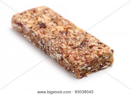 Granola bar isolates on white