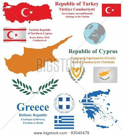 Cyprus Turkey and Greece
