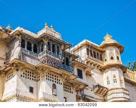 Balcony Of Udaipur City Palace