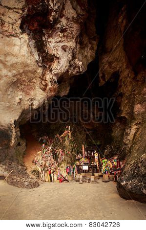 Pranang Cave With Many Wooden Phallus