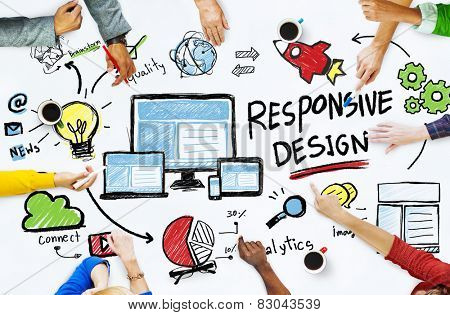 Responsive Design Internet Web Online People Meeting Concept