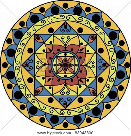 yellow-blue mandala