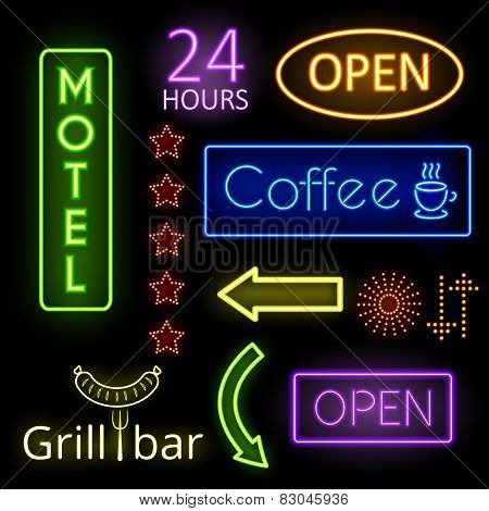 Neon glow signs