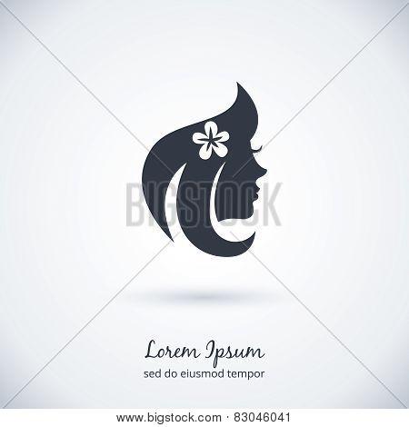 poster of Beautiful woman Logo