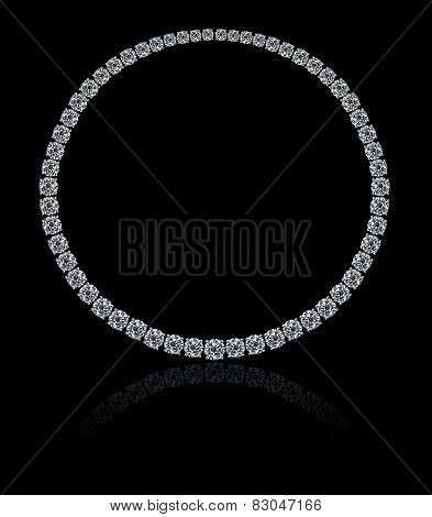 Round diamonds collier necklace