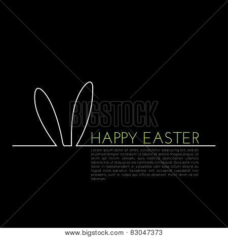 Linear concept, easter greeting card