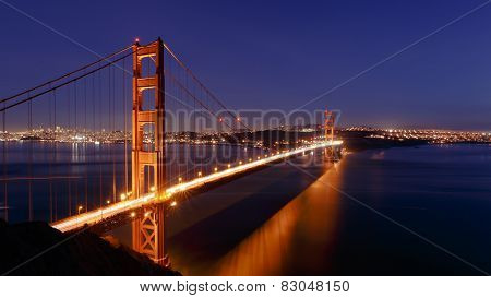 SF Golden Gate Bridge at Night