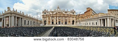 The Papal Basilica Of Saint Peter In The Vatican