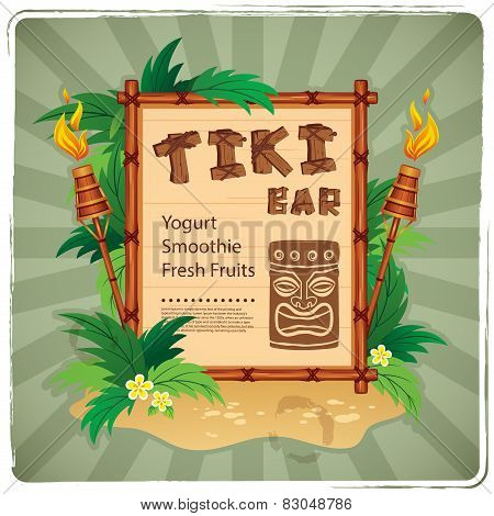 Retro Tiki bar sign