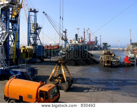 Harbor work in Sardinia