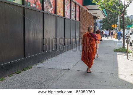 Monk On The Streets Of New York