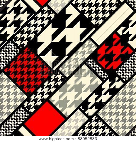 houndtooth geometric pattern