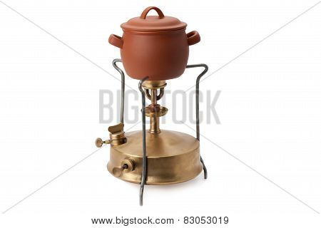 Kerosene Burner And Ceramic Pot