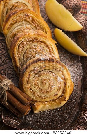 Puff Pastry Cookies With Apple And Cinnamon