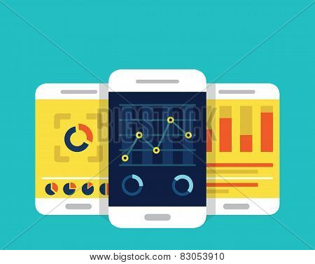 Mobile Dashboards With Analytics Information