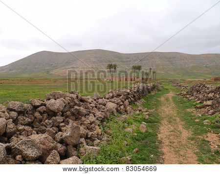 A rural footpath on Fuerteventura