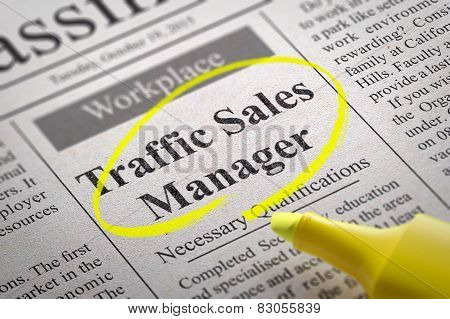 Traffic Sales Manager Jobs in Newspaper.
