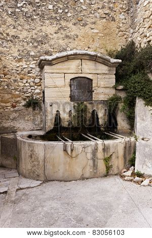 Old Fountain In Gigondas