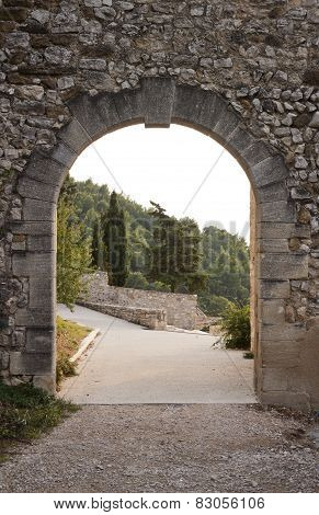 Arch Gate In Gigondas