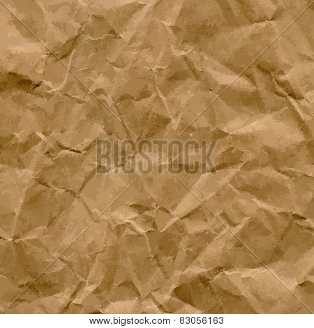 Vector Craft Recycled Crumpled Paper Texture