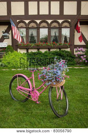 Yard Decor Bike Flowers